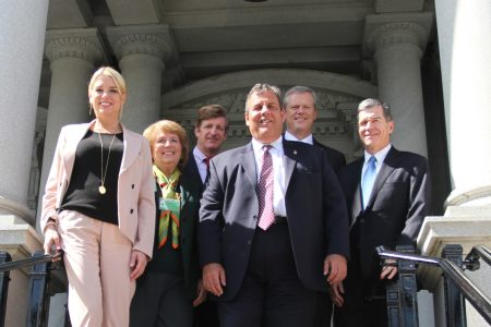 Kennedy with Commissioners